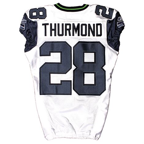 Seattle Seahawks | Auction - Game-Used Walter Thurmond #28 Road Jersey