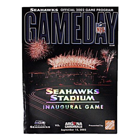 Seattle Seahawks 2002 Inaugural Gameday Program